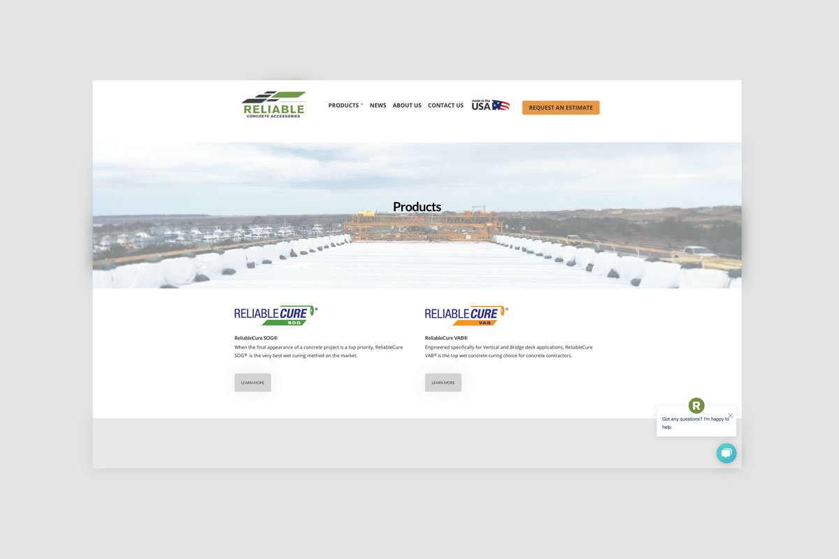 Products Page - Reliable Concrete Accessories