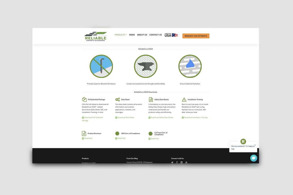 Website - Reliable Concrete Accessories