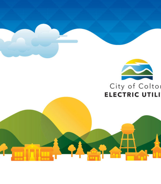 City of Colton Electric Utility illustrated cityscape