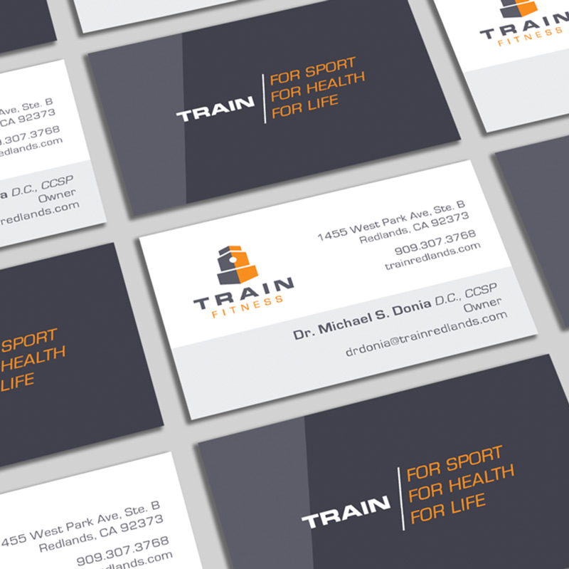 Train Fitness business card
